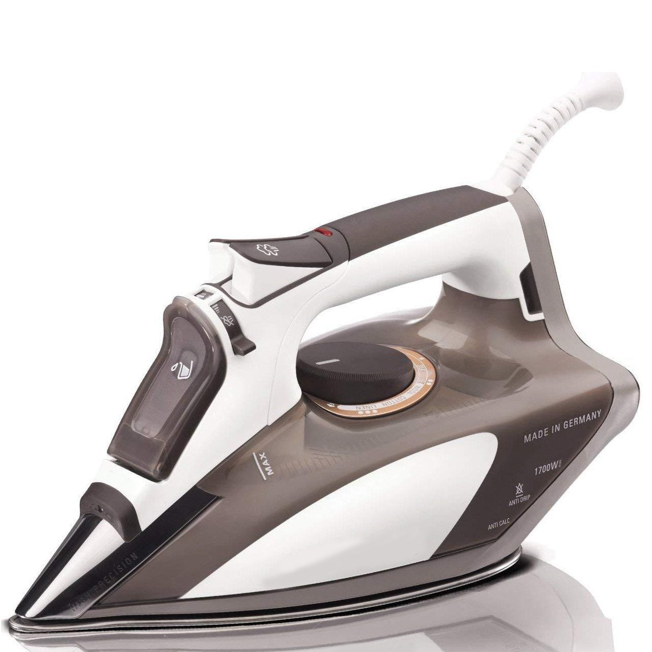 1700-Watt Micro Steam Iron Stainless Steel Soleplate