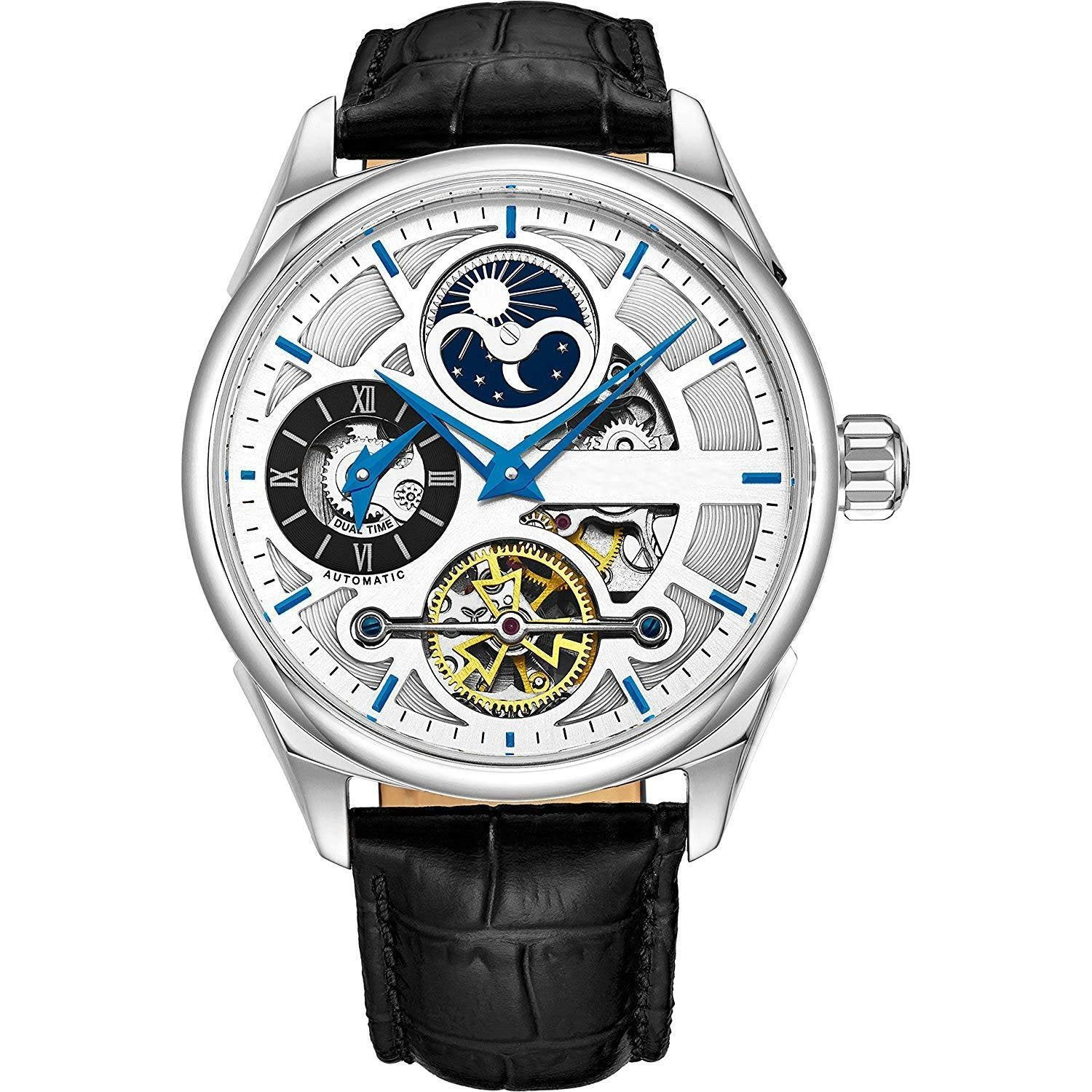 Mechanical Wristwatch For Men,Gold Plated/Stainless Steel