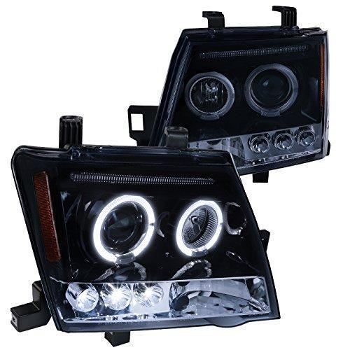 Black Projector Headlights Smoke Lens Head Lamps