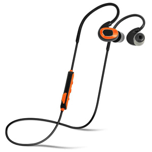 Bluetooth Earplug Headphones,(Safety Orange)