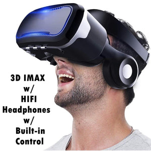 3D VR Glasses Virtual Reality Headset,Black