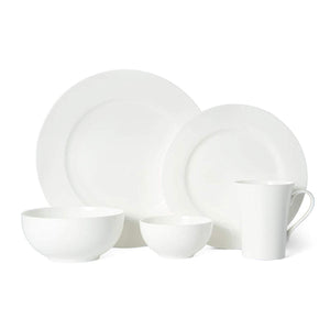 Pure White Dinnerware Set,Service For 8