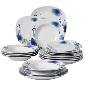 Purple Flower Patterns Kitchen Sets With Dinner Plate