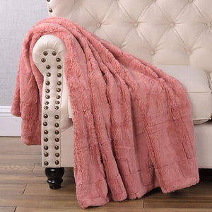 Cozy Soft Faux Fur Throw Blanket