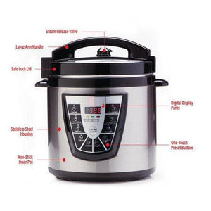 Power Pressure Cooker With Automatic Keep Warm Mode