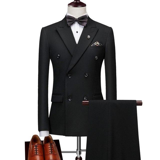 Lastest Men's Slim Fit Double Breasted  Formal Suits