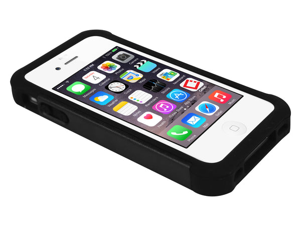 CCIPH47BK - Cellet Black Armor Case for Apple iPhone 4 & 4S