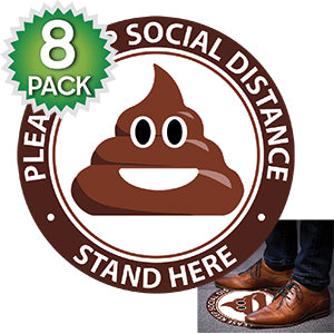 SK13 - 8 Pack 6FT Social Distancing Floor Decal, Anti-Slip Safety Social Distancing Floor Decal Marker for Banks, Shopping Centers, Grocery Stores and More