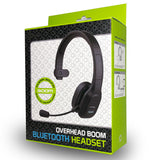 EBBOOMM100 - Overhead Wireless Headset, Premium V5.0 Overhead Wireless Noise Cancelling Headphones with Boom Microphone, Type-C Charging Cable and 3.5mm Adapter Compatible to Wireless Enabled Devices and 3.5mm Devices - Black