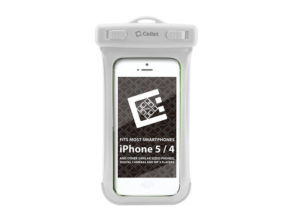 WATER5WT - Cellet Universal Waterproof Case for Apple iPhone 5 and other Similar Sized Devices - White