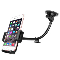 PH5SIL -  Windshield/Dashboard Phone Mount, Heavy Duty Windshield/Dashboard Phone Mount Holder with Reusable Sticky Suction Cup