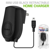 TCMOTV3R - Cellet MINI USB Black Retractable Travel Charger FOR GoPRO, All GPS, DIGITAL CAMERA, ETC.