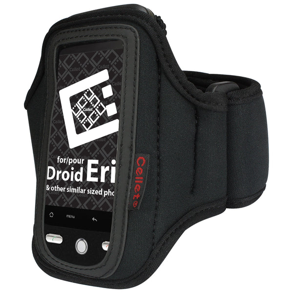 NEOARMBK - Cellet Black Neoprene Armband For LG Vu CU920 & Other Similar Sized Phones