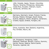 CNUNM - Worldwide All-In-One Universal Power Adapter - White