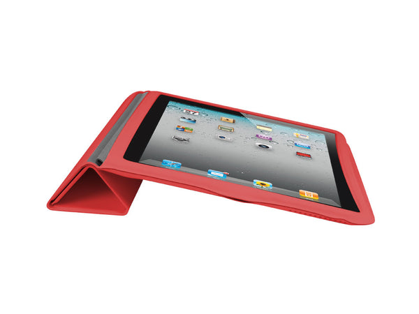LAPPIPAD2RD4 - Apple iPad 2 Folding Case Cover Slim No Bulk Full Cover Protection - Red