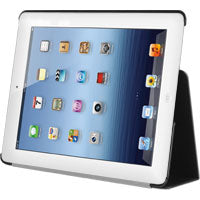 LAPPIPAD31BK - iPad 2, iPad 3, and iPad 4 Protective Case Cover with Folding Media Kickstand - Black