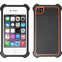 CCIPH49OR - Cellet Black/Orange Case with Bumper for iPhone 4 & 4S