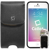 NOBLV5T - Cellet Vertical Noble Case For iPhone 5, 5S, SE (With Cellet Proguard On) With Cellet Removable Spring Belt Clip