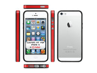 CBIPH5RB - IPHONE 5 RED & BLACK BUMPER