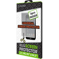 SPUNI3K - Cellet 3 Piece Screen Guard for Device Screens up to 4.5(H) and 2.9(w)