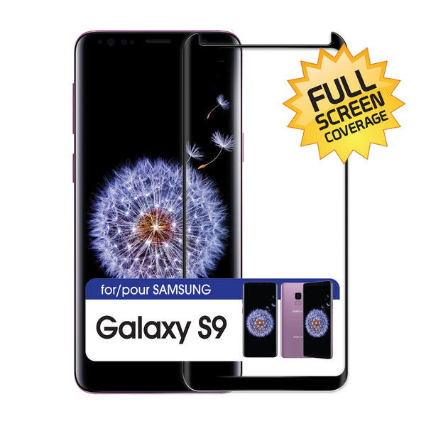 SGSAMS9F- Full Coverage Screen Protector 9H Hardness Tempered Glass - Samsung Galaxy S9