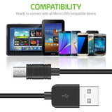 DAMICROL8 - Cellet Extra Long 8mm Tip Micro USB Charging & Data Sync Cable