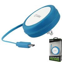 TMMICROBL - Cellet Cord Keeper 5Watt (1Amp) Micro USB Home Wall Charger - Blue