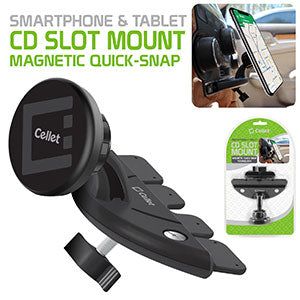 PHW450MG - Cellet Extra Strength Magnetic (with Quick-Snap Technology) CD Slot Phone Holder for Smartphones