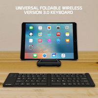 BKP200 - Cellet Universal Fold-able Wireless Version 3.0 Keyboard for Tablets and Smartphones