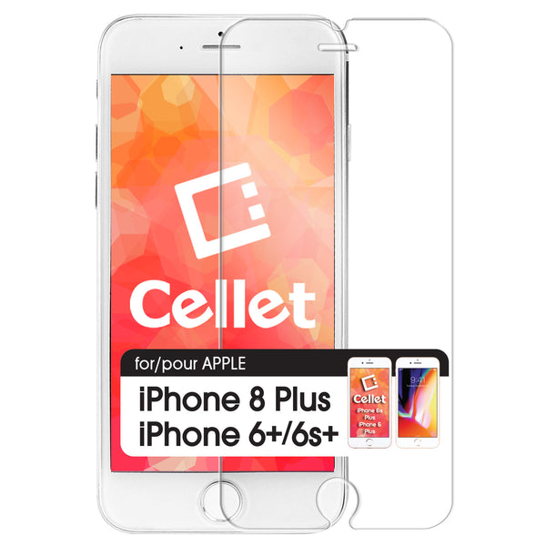 SGIPH6PS - Tempered Glass Screen Protector for Apple iPhone 8Plus, 6Plus & iPhone 6S Plus (0.3mm) by Cellet
