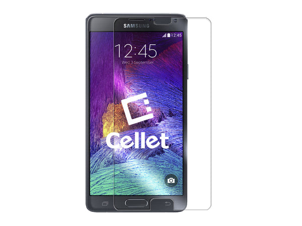 SGSAMN4 - Cellet Premium Tempered Glass Screen Protector for Samsung Galaxy Note 4 (0.3mm)