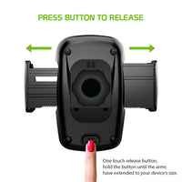 PHCN200CDB -  CD Slot Phone Mount with 360 Degree Cradle Rotation, One Touch Release Button and Stabilizing Knob for Apple iPhone XS Max, X/XR, 8/8 Plus, Samsung Galaxy Note 10/10 Plus, Galaxy S10, S10 Plus, S10e and More – by Cellet