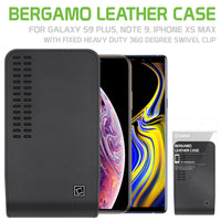 LBERGAMOLG - Cellet Bergamo Case for iPhone XS Max, 8Plus, 7Plus, 6Plus, and Samsung Note9, Note8, Note5, Galaxy S9Plus, S8Plus, 7SPlus Edge S6edge+ with Fixed Heavy Duty 360 Degree Swivel Clip
