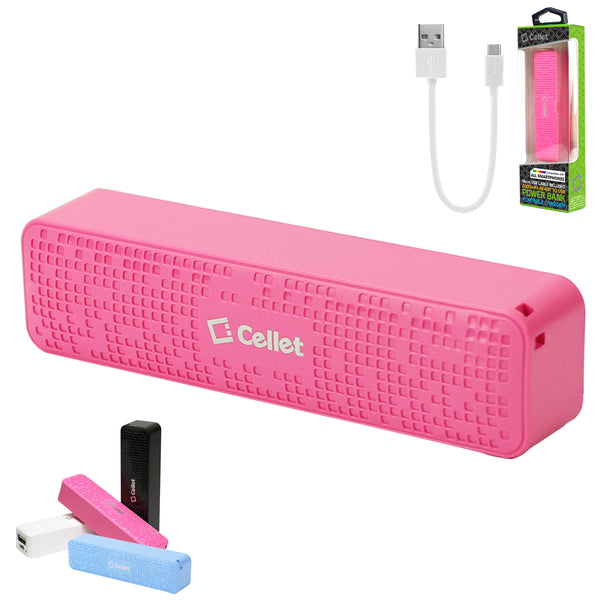 BC2000PK- 2000mAh Power Bank/Portable Charger (Micro USB Cable is included) - Pink