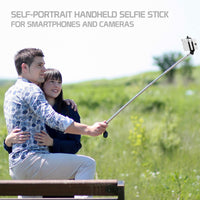 ACPOD5BK - Cellet Self-Portrait Handheld Wireless Selfie Stick for Smartphones - Black