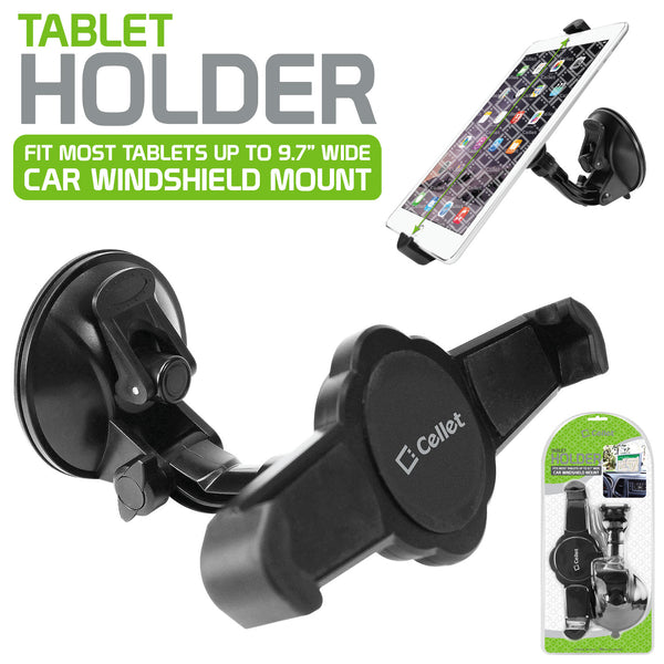 "PHTABCN -Windshield Tablet Car Mount Holder with Large Suction Cup, Holds Tablets up to 9.7"" Width"