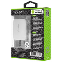 TCMICRO21GWT - Cellet Hi-Powered 10W / 2.1 Amp Home Charger (Micro USB cable included) - White