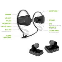 BTACTIVEBK - Cellet Sports-Fit Wireless Version V4.1 Stereo Headset with NFC Connection - Black