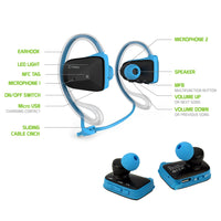 BTACTIVEBL - Cellet Sports-Fit Wireless Version V4.1 Stereo Headset with NFC Connection - Blue