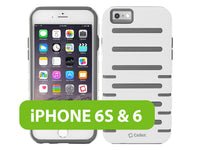 CCIPH6SQ1WT - Cellet DuoPro Armor Case for Apple iPhone 6s / 6 - White/Gray