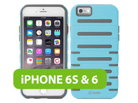 CCIPH6SQ1BL - Cellet DuoPro Armor Case for Apple iPhone 6s / 6 - Light Blue/Gray