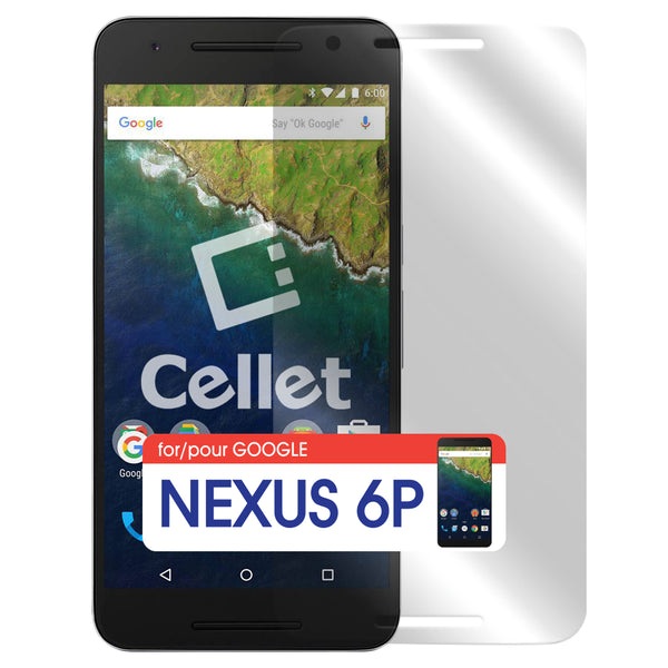 SGNEX6P - Cellet Premium Tempered Glass Screen Protector for Google Nexus 6P (0.3mm)