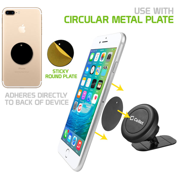 CLCMETALP - Replacement Round Metal Plate for Magnetic Phone Holders (Round Metal Plate Only)