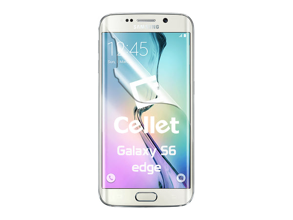 STSAMS6ED - Cellet Full Coverage Flexible Film Screen Protector for Samsung Galaxy S6 Edge