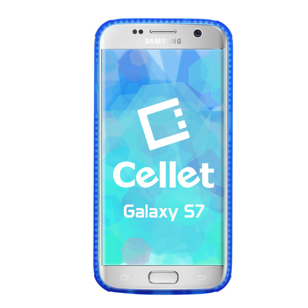 CCSAMS7BL - Galaxy S7 Case, Cellet Flexi Rubberized TPU Case for Samsung Galaxy S7 – Blue