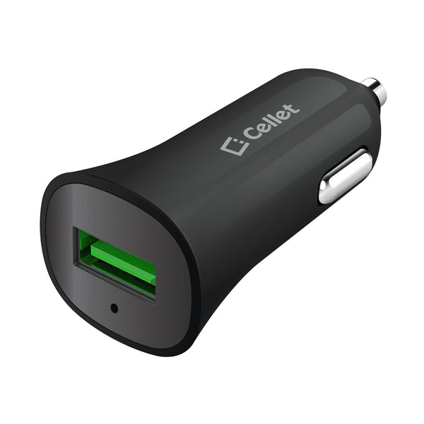 PQC30BK - Ultra Compact 3.0 Quick Charge USB Car Charger - Black