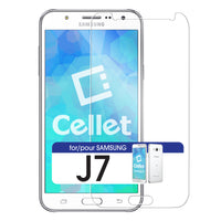 SGSAMJ7 - Samsung J7 Protector, Premium Ultra-Thin Tempered Glass Screen Protector for Samsung J7 (0.3mm) by Cellet
