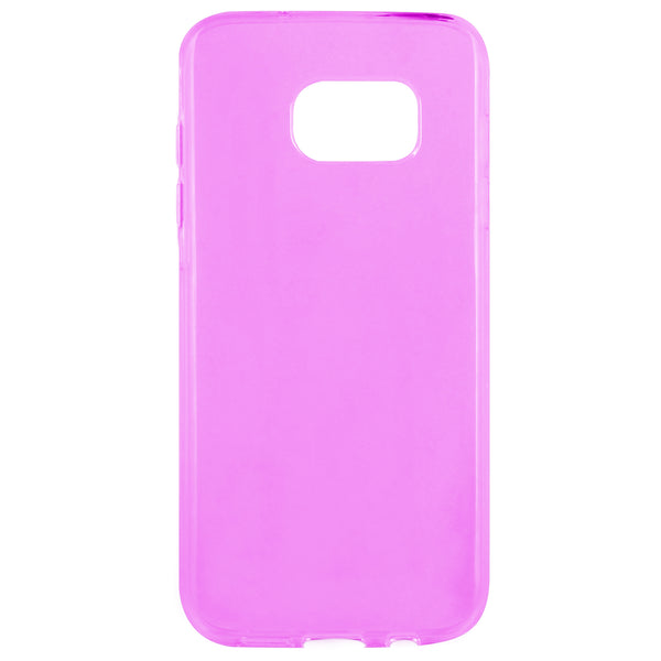 CCSAMS7EDFPK - Samsung Galaxy S7 Edge Slim Clear Flexi Case - Pink