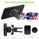PHVENTMLK - Cellet Universal Premium Quick-Snap Smartphone Car Vent Mount with 360 Degree Rotation