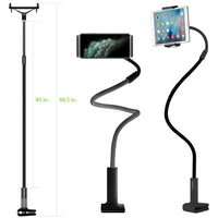 PHX100 - iPad/Tablet Holder, Cellet Gooseneck Tablet & Smartphone Desktop Mount with Spring Grips (Fits Devices 4.75-9 Inches)
